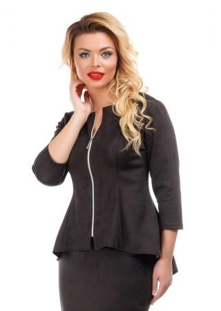 Жакет черный замшевый Liza-fashion