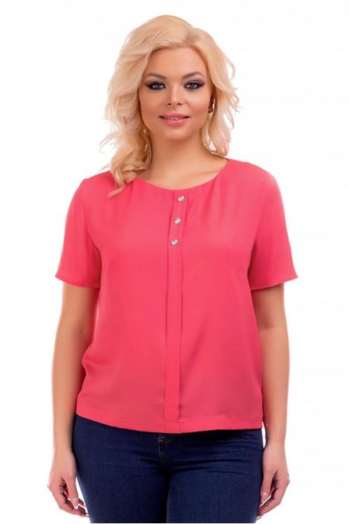 Блузка с декоративными пуговицами Liza-fashion