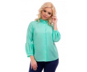 Блузка с рукавами фонарик мятного оттенка Liza-fashion