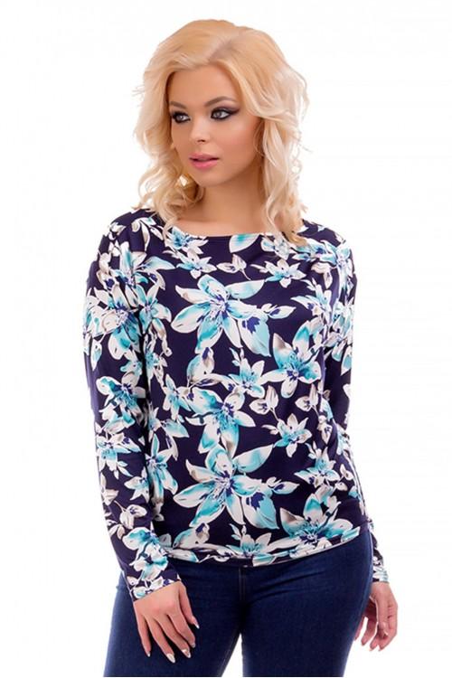 Блузка с рукавом летучая мышь Liza-fashion
