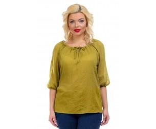Блузка темно-горчичного оттенка Liza-fashion