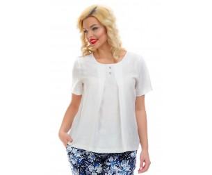 Блузка льняная белая Liza-fashion