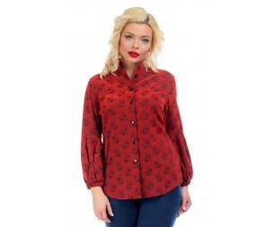 Рубашка с рукавами фонарик Liza-fashion
