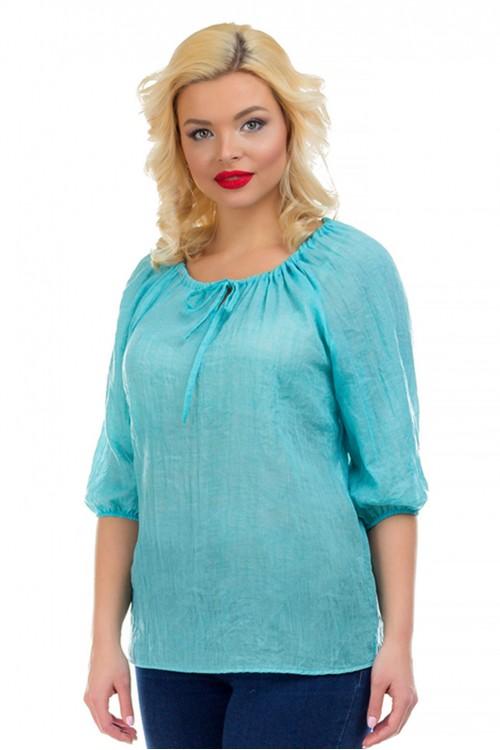Блузка бирюзовая Liza-fashion