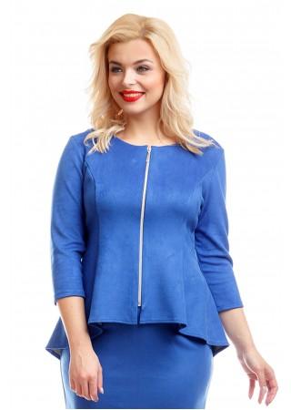 Жакет синий замшевый Liza-fashion