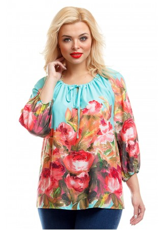 Блузка с ярким принтом Liza-fashion