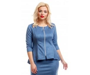 Жакет серо-голубой замшевый Liza-fashion