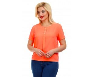 Блузка с имитацией планки Liza-fashion