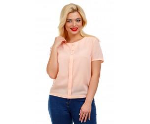 Блузка персикового оттенка Liza-fashion