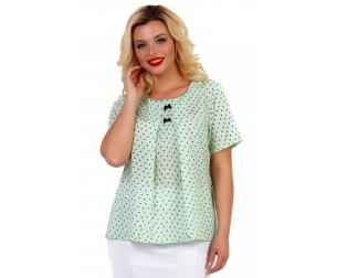 Блузка хлопковая с принтом бантики Liza-fashion