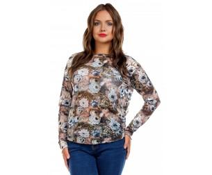Блузка из трикотажной сетки Liza-fashion