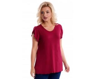 Блузка бордовая Liza-fashion