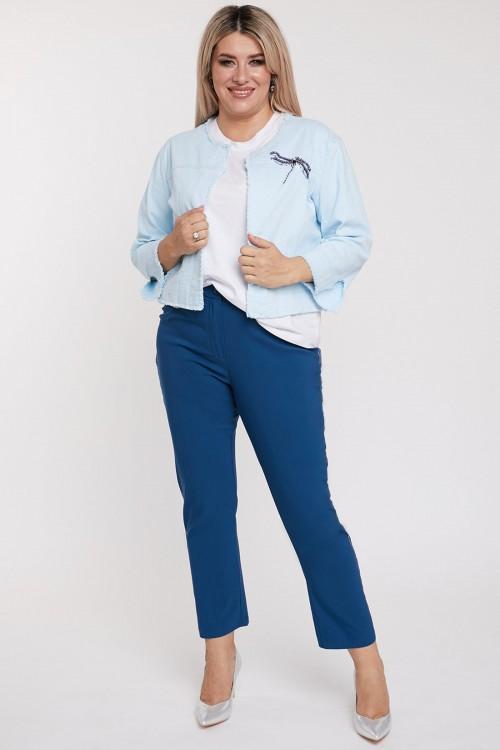 Брюки 1103 синие Luxury Plus