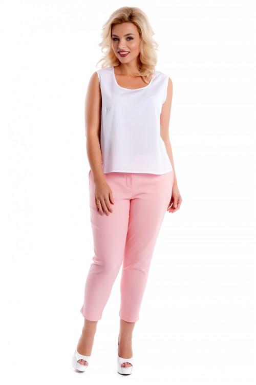 Брюки хлопковые розовые Liza-fashion