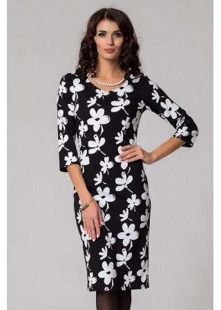 Эффектное черно-белое платье…
