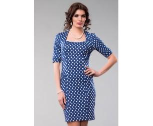 Платье синее в горох Be-cara
