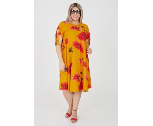 Платье 1199 оранжевое Luxury Plus