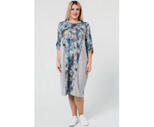 Платье 1020 голубое Luxury Plus