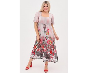 Платье 1057 серое Luxury Plus