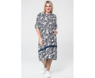 Платье 1061 синее Luxury Plus
