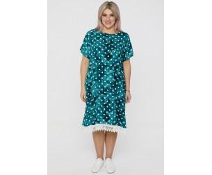 Платье 1104 светло-зеленое Luxury Plus