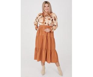 Платье 1141 бежевое Luxury Plus