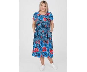 Платье 1202 темно-синее Luxury Plus