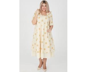 Платье 1205 бежевое Luxury Plus