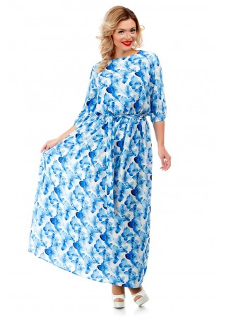 Платье макси с принтом Liza-fashion