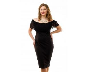 Платье коктейльное черное Liza-fashion