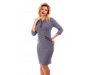 Платье с декоративными молниями Liza-fashion