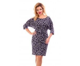 Платье с геометрическим принтом Liza-fashion