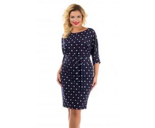 Платье синее с геометрическим принтом Liza-fashion