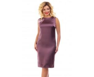Платье атласное темно-сливового оттенка Liza-fashion