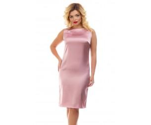 Платье атласное розовое Liza-fashion