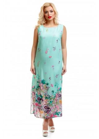 Платье бирюзовое с купонным…