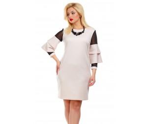 Платье с воланами на рукавах Liza-fashion