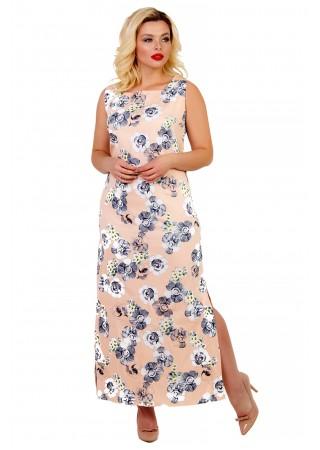Платье хлопковое персикового…