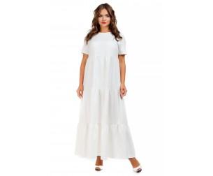 Платье длинное белое Liza-fashion