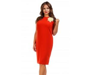 Платье-футляр терракотовое Liza-fashion