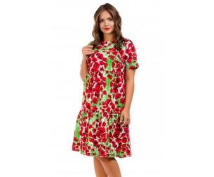 Платье-трапеция с воланами Liza-fashion