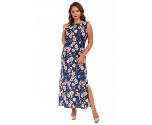 Платье без рукавов длинное Liza-fashion