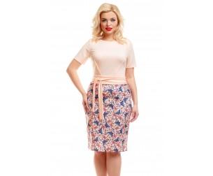 Платье с принтом бабочки Liza-fashion