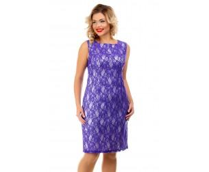Платье гипюровое синее Liza-fashion
