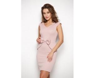 Платье с бантиком розовое Valentina