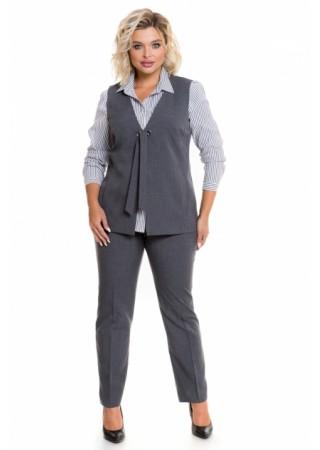 Кэжуал брюки серые Venusita
